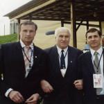 Три Олимпийских чемпиона разных лет: Игорь Новиков, Анатолий Старостин и Дмитрий Сватковский