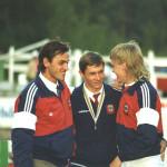 Золотая команда чемпионата мира 1990 года в Финляндии   Вахтанг Ягорашвили, Анатолий Старостин и Эдуард Зеновка.
