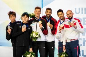 Александр Лесун на фото первый справа